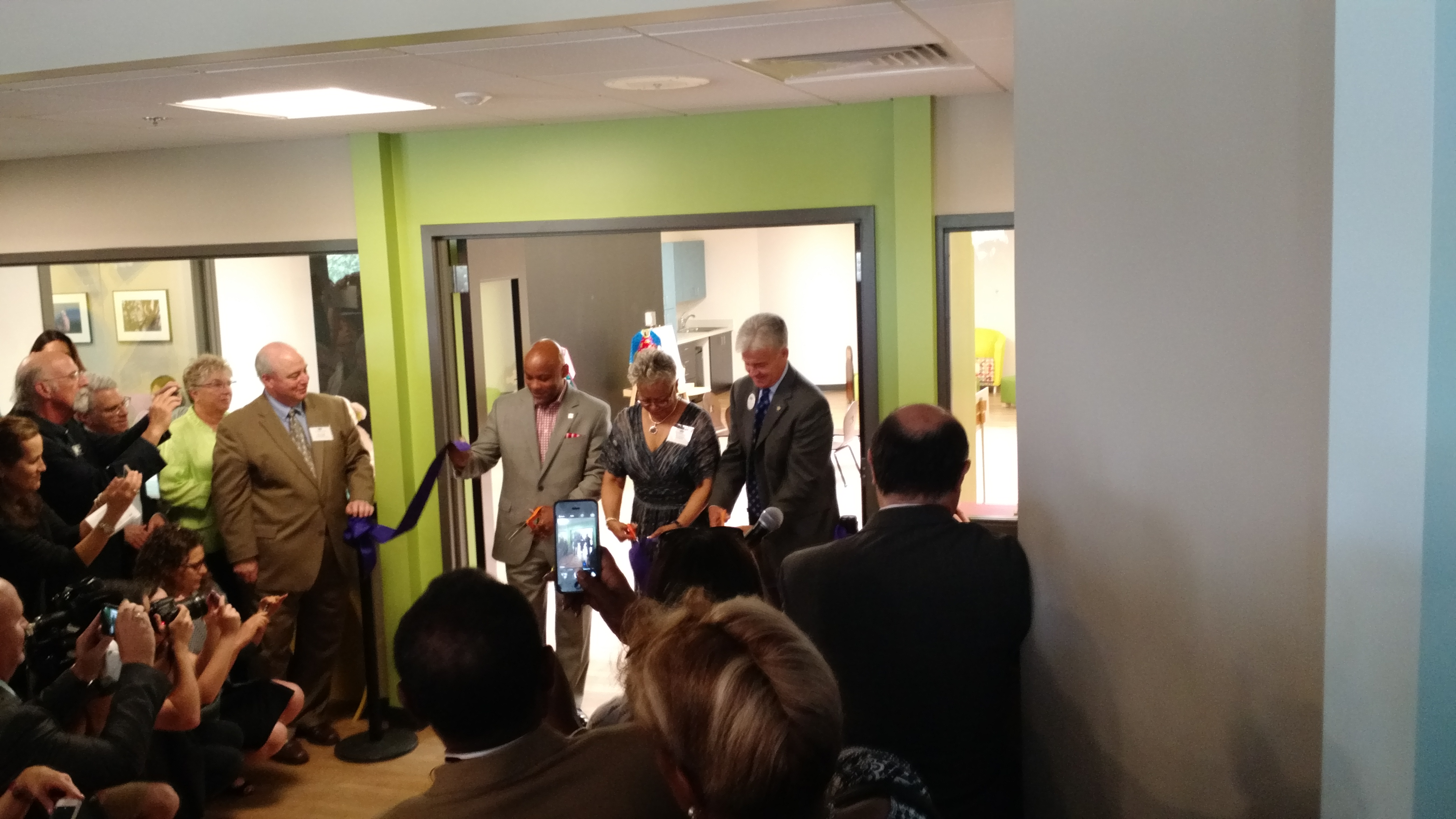 Rose Andom Center Ribbon Cutting