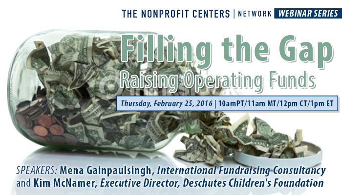 Filling the Gap: Raising Operating Funds