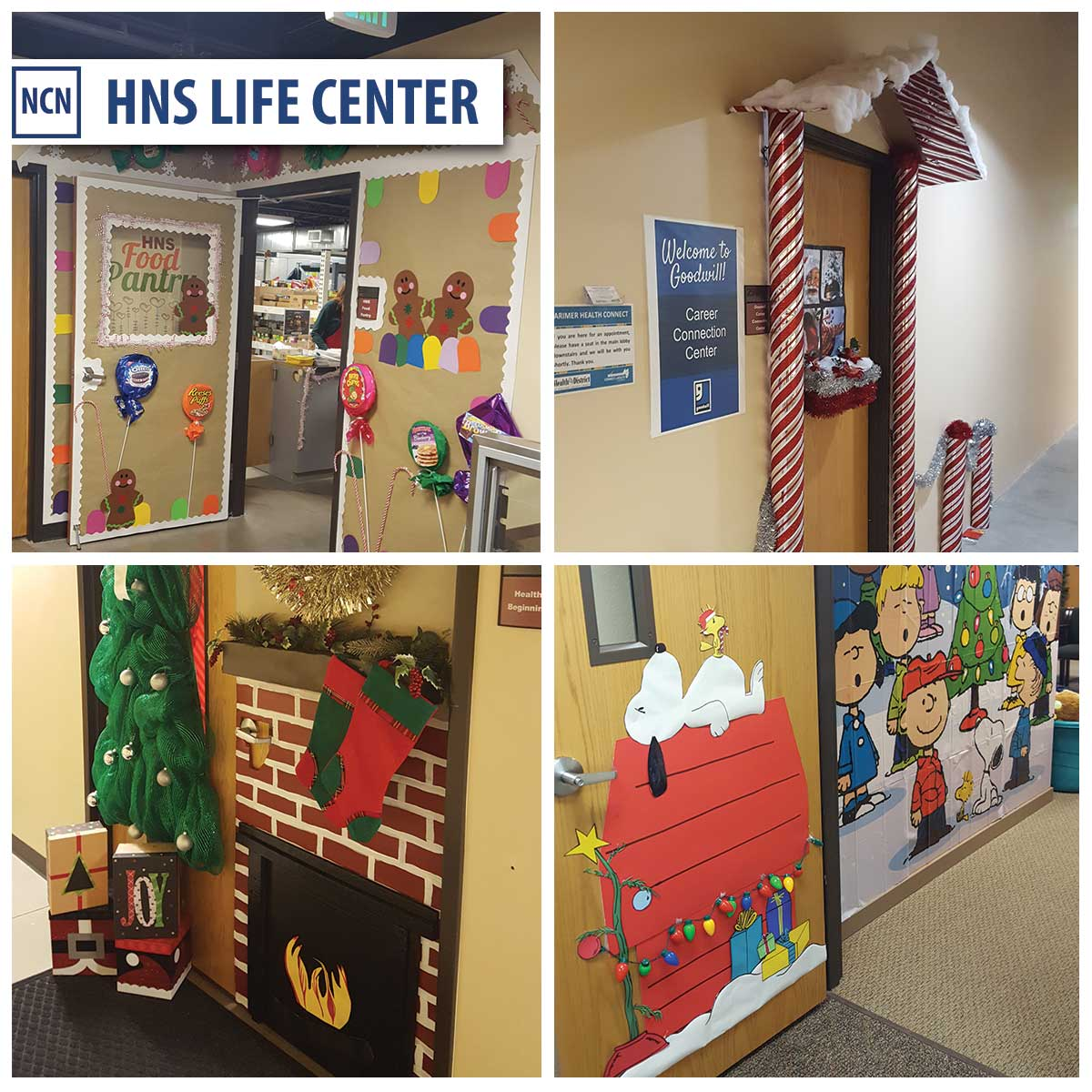 HNS Life Center Holiday Doors