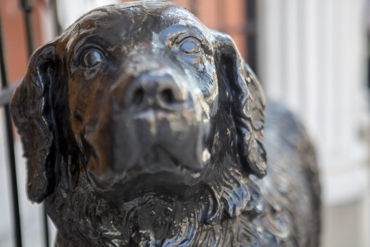 Federated Charities Dog Sculpture